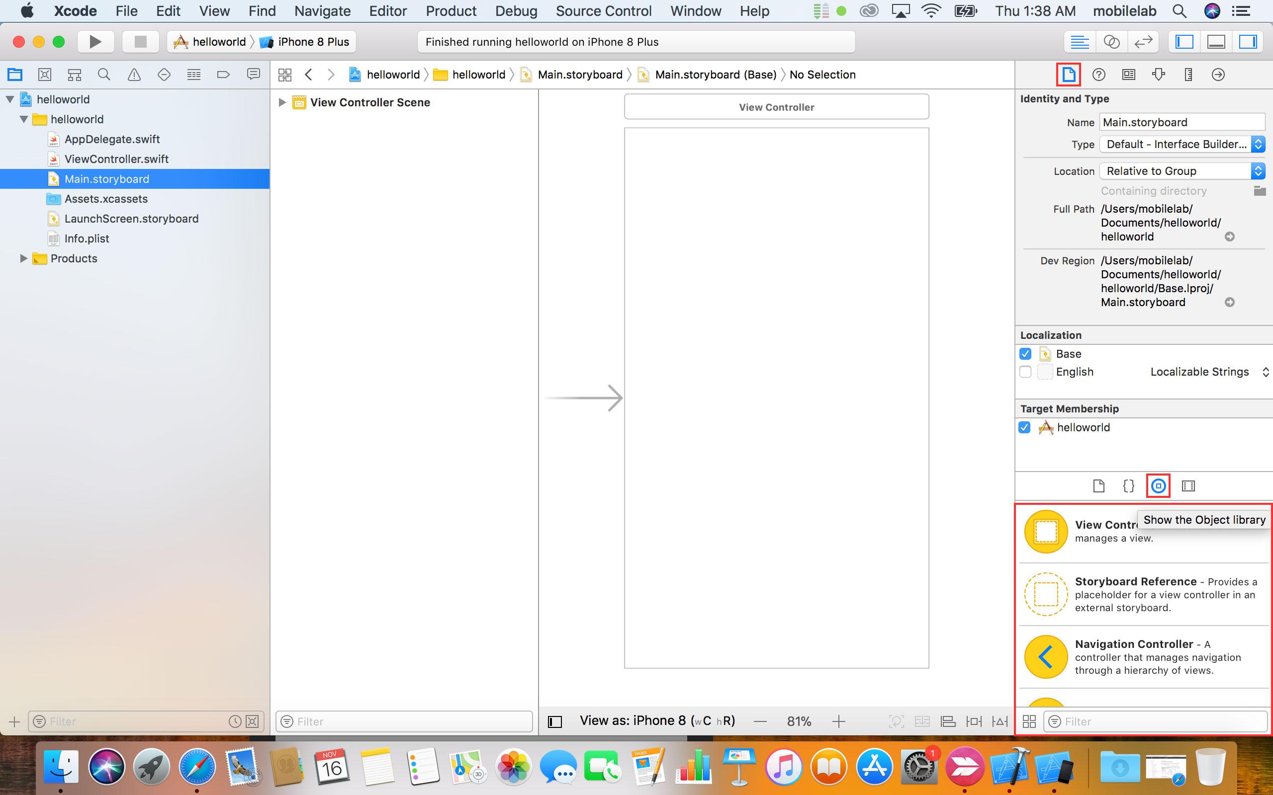 Hello Xcode – Mobile Lab